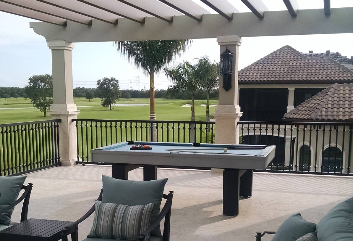7ft South Beach Outdoor Pool Table 3