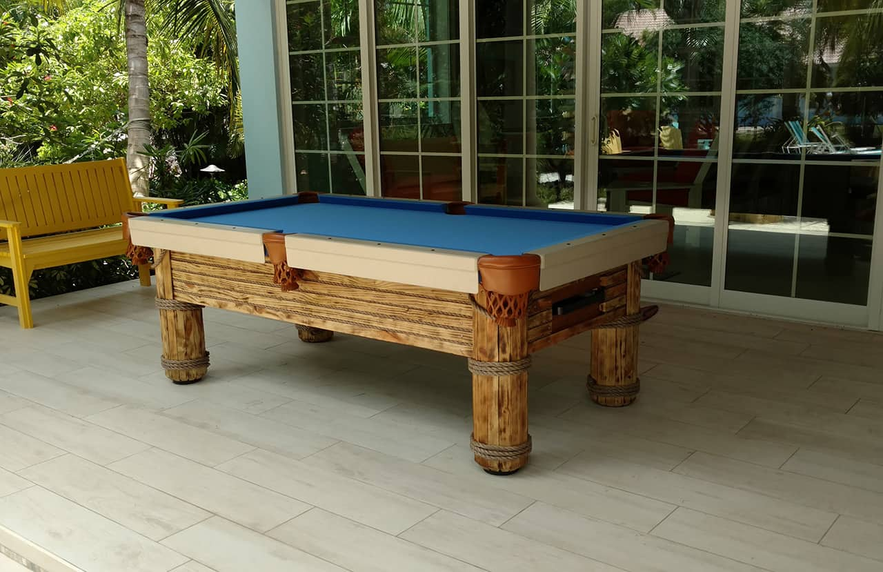 8ft Caribbean Outdoor pool table 1