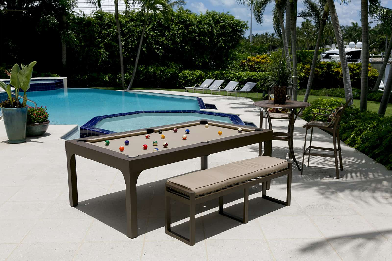 7FT Balcony Outdoor Dining Pool table 1