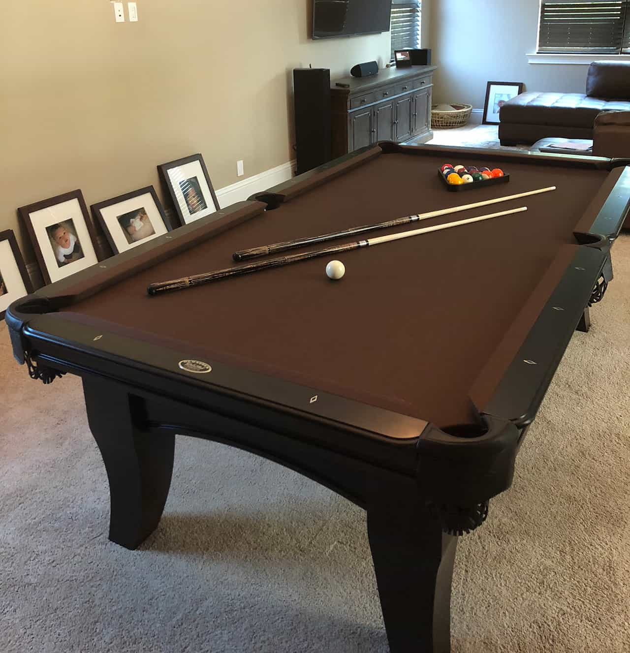 8ft Olhausen Chicago Espresso Finish