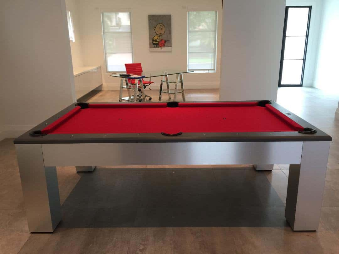Olhausen Brushed Aluminum Madison Pool Table