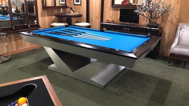 8ft Aluminum Olhausen V Base Pool Table