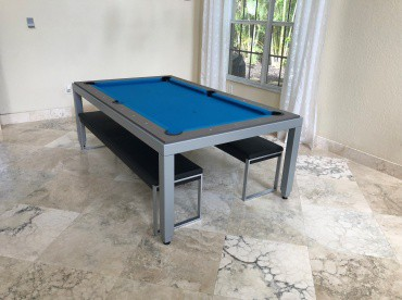 Fusion Grey Dining Pool Table